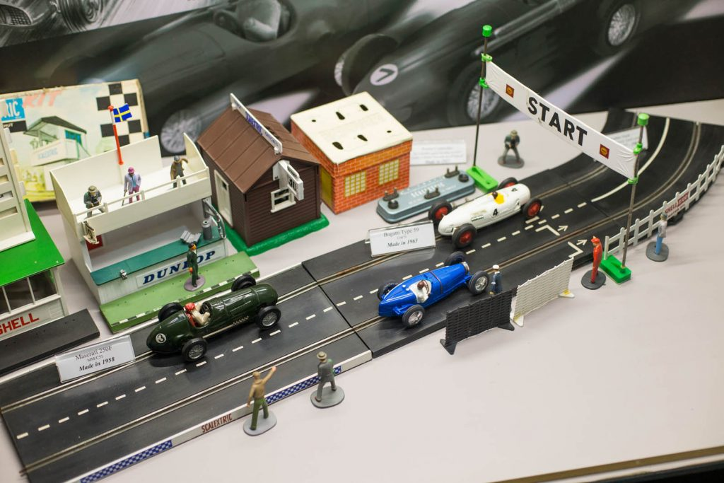 Slot Racing National Championship The first British National Championships for model cars organised by ECRA (Electric Car Racing Association) were in for rail guided cars.The event organised by ECRA was the first National championship for slot cars in the UK, and as far as we know the first National slot racing championship anywhere.